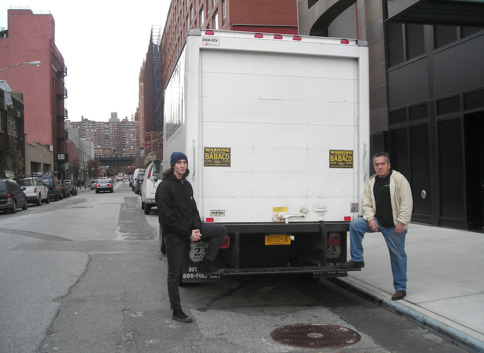 Phil Kennedy with Delivery Truck
