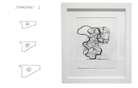 Framed Drawing by Brice Marden