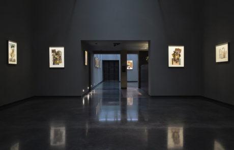 Irving Penn artwork framed by Bark Frameworks at Hamiltons Gallery looking across the room