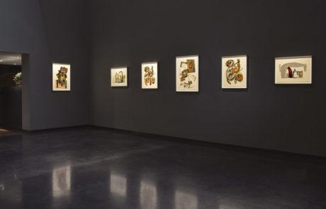 Six pieces of Irving Penn artwork framed by Bark Frameworks at Hamiltons Gallery