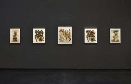 Five pieces of Irving Penn artwork framed by Bark Frameworks at Hamiltons Gallery