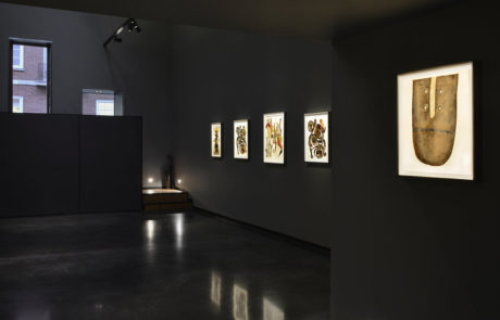 Irving Penn artwork framed by Bark Frameworks at Hamiltons Gallery looking to the right wall