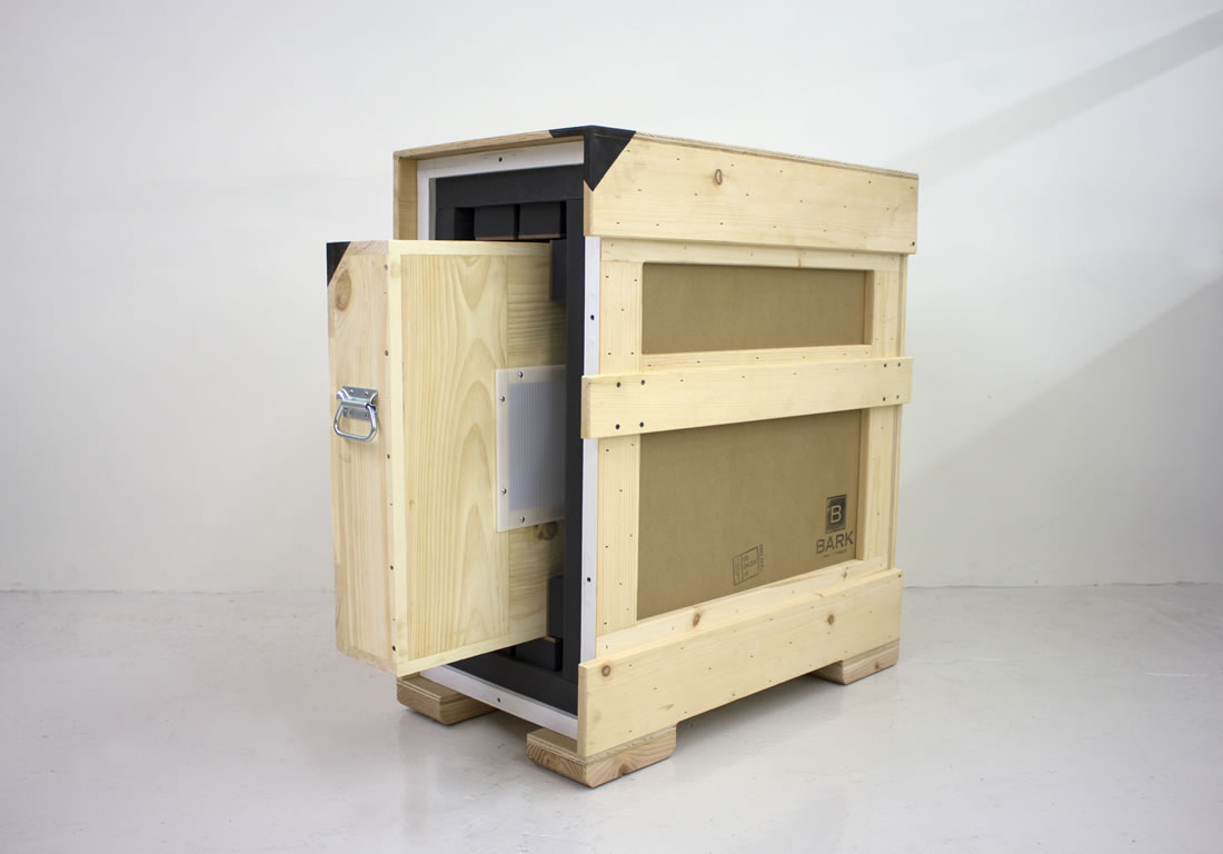 Crate with Travel Crate Sliding Out