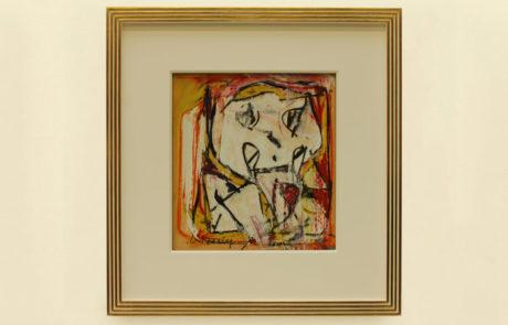 Framed Oil on Paper Artwork by Willem de Kooning