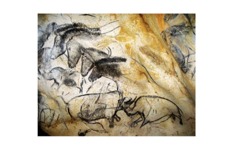 """""""Horse Panel"""" in Grotte Chauvet, in southern France"""