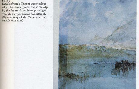 J.M.W. Turner Watercolor with Light Damage