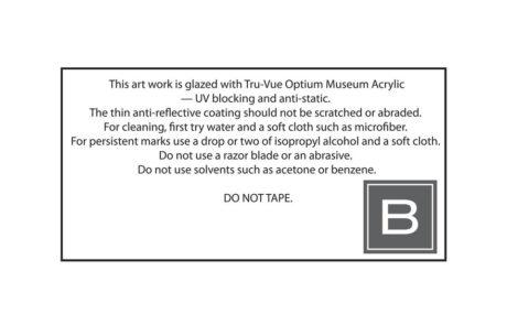 Bark Frameworks Label on Back of Frame
