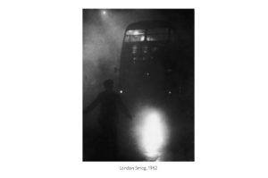 Image of Bus and Person during London Smog of 1952