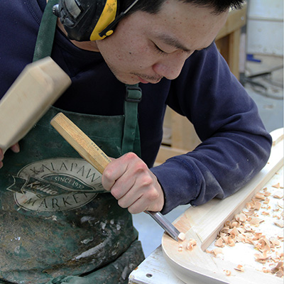 Peter Using a Chisel