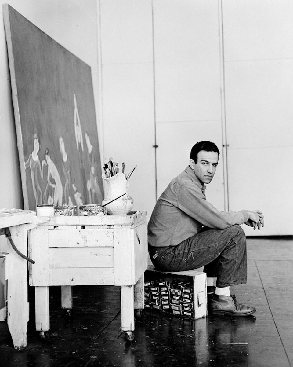 Artist Alex Katz in Studio