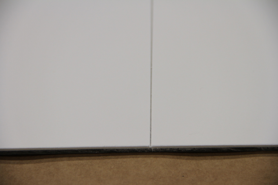 Two Pieces of 100% Cotton Rag Board Mounted to Dibond Panel Meet
