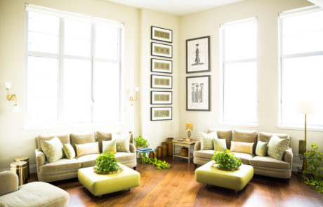 Custom Frames and Easels in Living Room Context