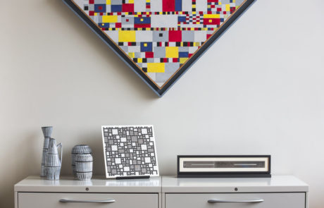 Custom Frames on Wall and Furniture