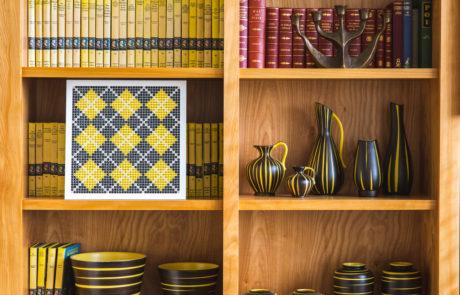 Custom Frame in Context on Shelf