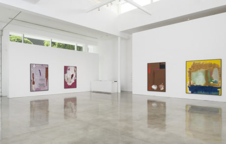 View of Four Large Frankenthaler Paintings Hanging in the Gallery