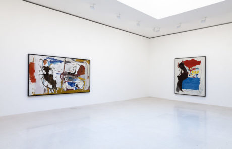 Two Large Helen Frankenthaler Paintings - One Rectangular, One Square