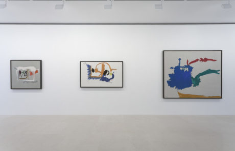 Three Helen Frankenthaler Paintings of Different Sizes