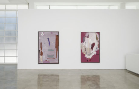 Two Frankenthaler Paintings Side by Side
