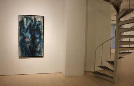 Richard Pousette-Dart Painting next to Spiral Staircase