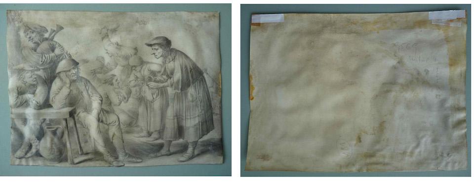 Pieter Quast Artwork Before Treatment