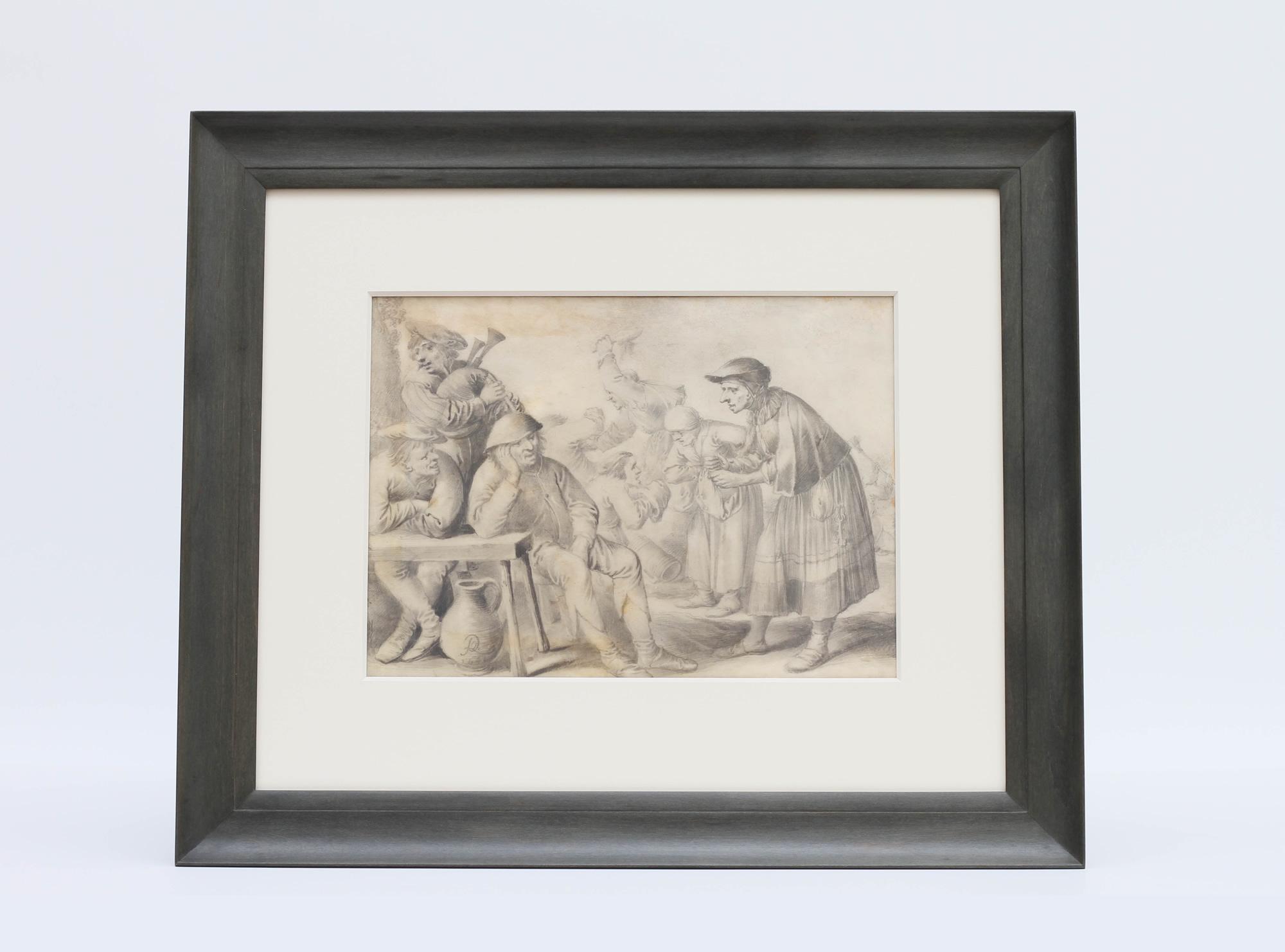 Pieter Quast Print Framed by Bark Frameworks