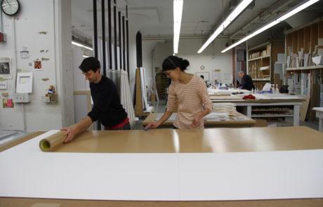 Preparing to Mount Paper