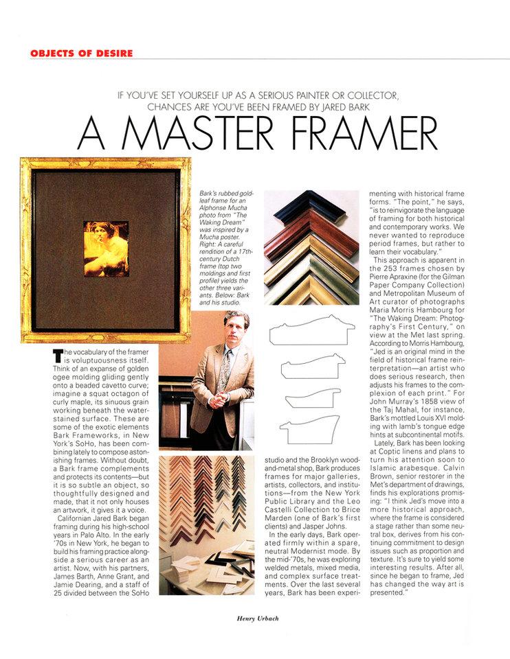 A Master Framer
