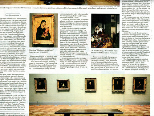 Article about Framing Exhibit in The New York Times