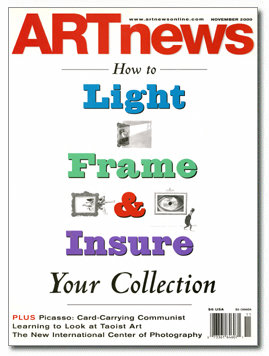 ARTnews Cover: How To Light. Frame & Insure Your Collection