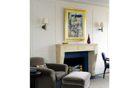 Bark Frame for Glenn Dissler Design Above Fireplace
