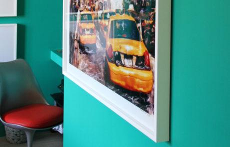 Framed Taxi Image