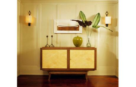 Bark Frames for Glenn Dissler Design Above Credenza