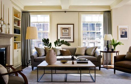 Bark Frames for Glenn Dissler Design in Living Room