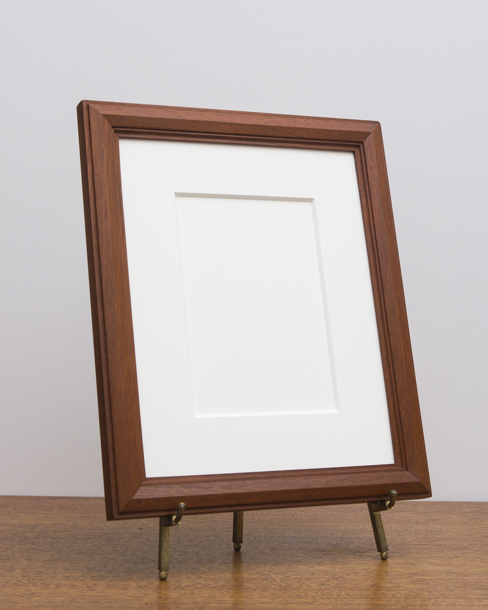 Cairo Frame with Sienna Stain from Side
