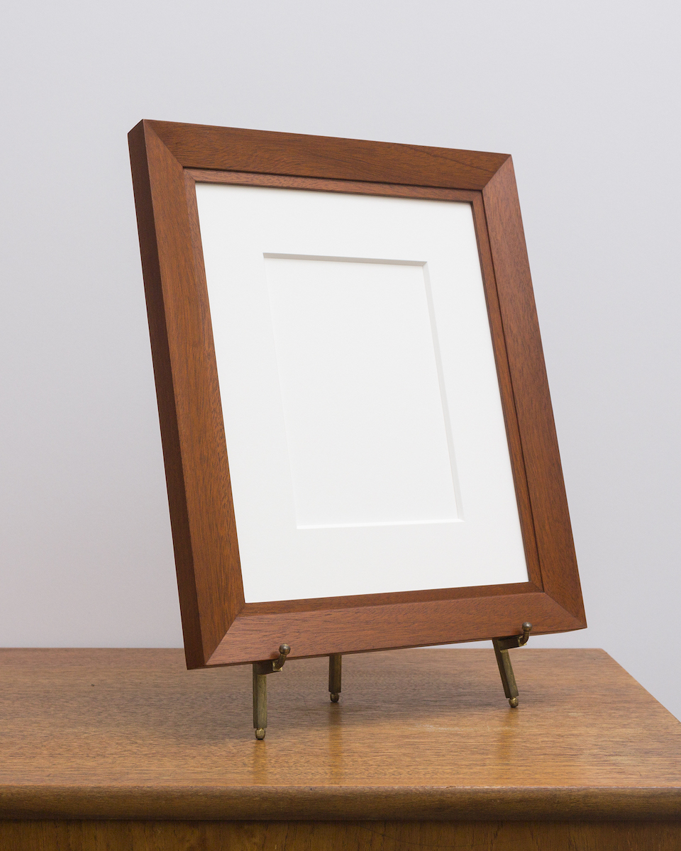 Charleston Frame with Sienna Stain from Side