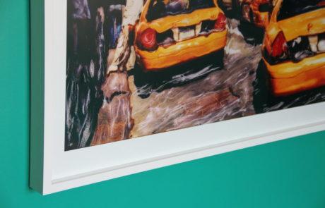 Corner Frame Detail of Taxi Image