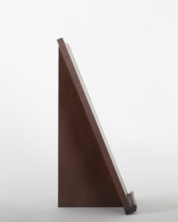 Thinback Maple Table Easel in Dark Brown Alternate Profile View