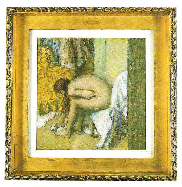 Degas Painting of Nude Sitting in a Chair