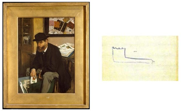 Painting and Sketch by Degas