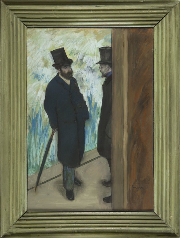 Degas Painting of Two Men on the Sidewalk
