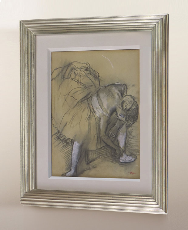 Degas Pastel of Dancer Framed by Bark Frameworks
