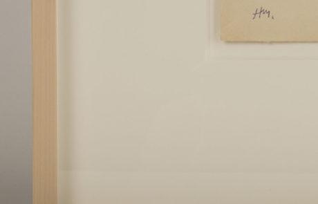 Detail Corner of Frame Made for Matisse Drawing