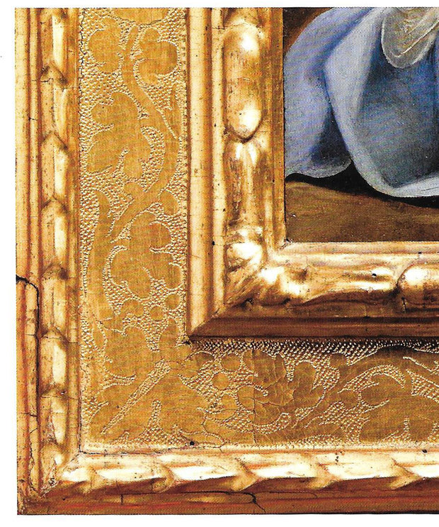 Detail of Italian 16th Century Carved and Gilded Cassetta Frame