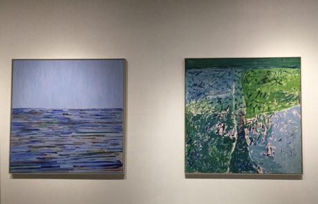 Elizabeth Enders at Real Art Ways Two Paintings