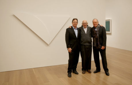 Ellsworth Kelly with Curator and Director of The Clark Art Institute