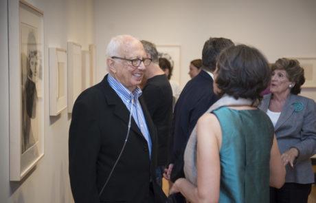 Ellsworth Kelly Talking to Gallery Visitors