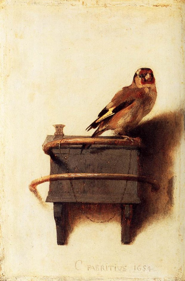 Carel Fabritius Painting The Goldfinch