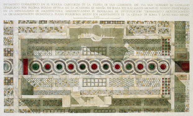 Floor Plan of San Clemente in Rome
