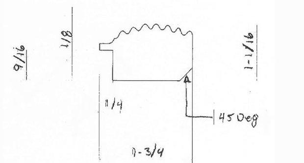 Frame Profile Designed by Bark Frameworks for Degas Artwork