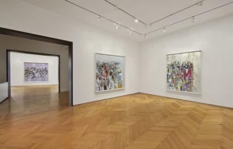 Three Large George Condo Drawings in Multiple Rooms of Skarstedt Gallery